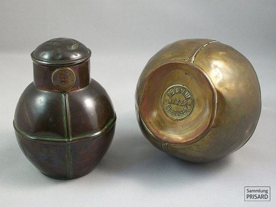 RES.20.001 Milchkannen aus Kupfer von De la Rue (Guernsey, 1. Hälfte 20. Jahrhundert) / © Sammlung PRISARD