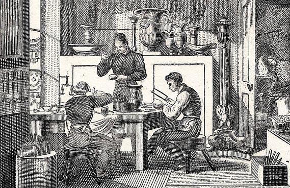 IMA.19.075 Silberschmied (Lithographie, 1842) / © Sammlung BFHG