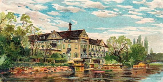 CAP.20.019 Geburtshaus von Ferdinand von Zeppelin: Das Inselhotel bei Konstanz (Ansichtskarte, um 1900) / © Sammlung BFHG