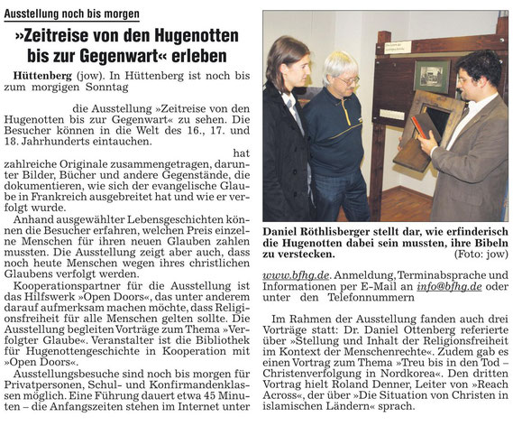 Gießener Allgemeine Zeitung, 20.11.2010, Seite 65 / © Gießener Allgemeine Zeitung, Gießen (D)
