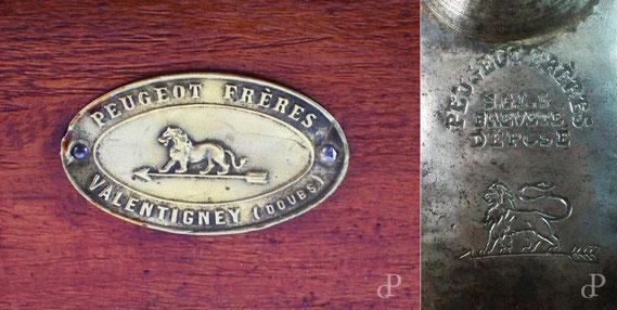 Markenzeichen von Peugeot Frères seit 1858 / © Sammlung PRISARD
