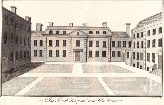 IMA.18.014 French Hospital, Bath Street (London) (Kupferstich, 1756) / © Sammlung PRISARD