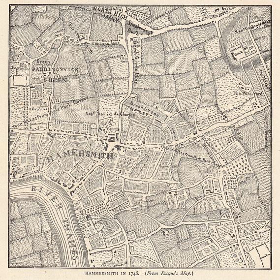 IMA.19.076 Landgut De Charmes (de Charms) im Jahr 1746 (London, um 1880) / © Sammlung BFHG