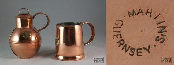 RES.20.063 Kupferwaren-Manufaktur mit hugenottischem Namen: Martin´s (Guernsey, 1. Hälfte 20. Jahrhundert) / © Sammlung PRISARD