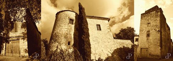 Das Château de Gajan (Département Gard, Languedoc-Roussillon) des Seigneur Blaise d´Albenas, 1703 von den Kamisarden in Brand gesetzt (Aufnahme aus dem Jahr 2013) / © Sammlung PRISARD