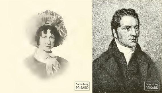 RES.18.004b Letitia Bateman (1777-1836) (l.); Thomas Palmer Bull (1773-1859) (r.)
