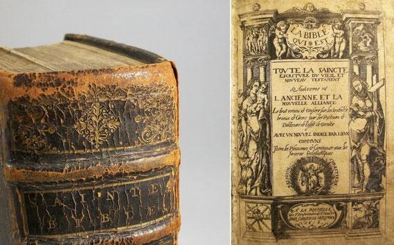 LIB.17.003 Hugenottenbibel von Corneille Hertman (La Rochelle, 1616) / © Sammlung PRISARD