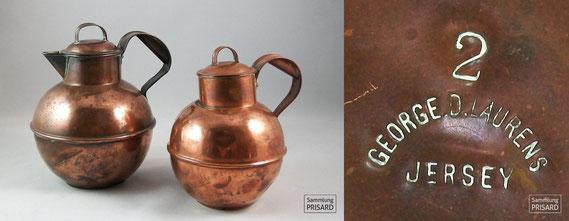 RES.20.063 Kupferwaren-Manufaktur mit hugenottischem Namen: George D. Laurens (Jersey, 1. Hälfte 20. Jahrhundert) / © Sammlung PRISARD