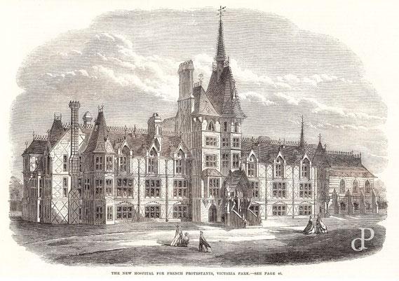 IMA.19.009 French Hospital, Victoria Park (London) (The Illustrated London News, 1865) / © Sammlung PRISARD