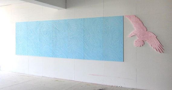Installation im Atelier