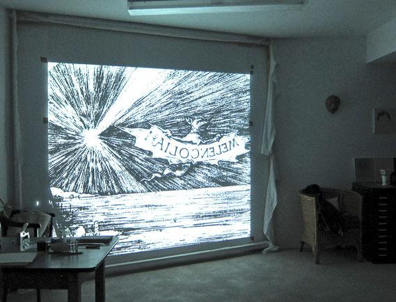 Speicher II Münster   Atelier 2.5   Innenansicht einer Projektion