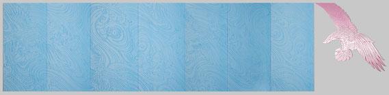 Wogen 2012 Atelier Speicher II Münster Relief Polystyrol Hartschaum 125 x 523 x 2 cm