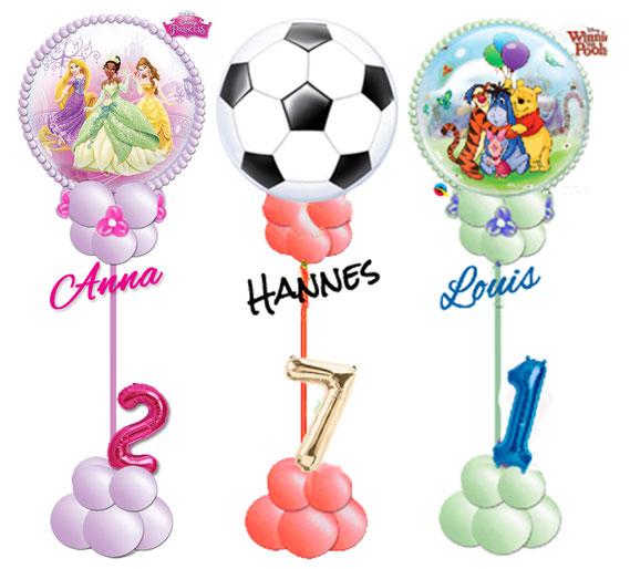 Ballon Luftballon Bubble Princess Disney Prinzessin Geschenkballon Geschenk Party Kindergeburtstag süß Blumen Überraschung Mädchen Kind Ständer Name Alter zahl Geburtstag