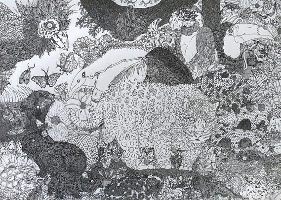 「密林の奥に」2018年