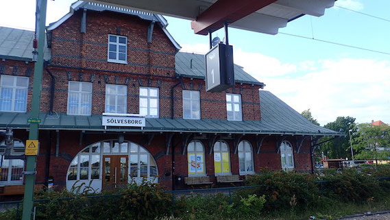 Bahnhof Sölvesborg, Südschweden