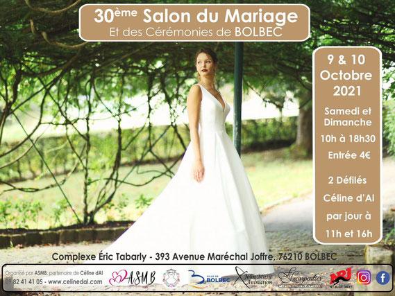 Salon du Mariage de Bolbec - 9 et 10 Octobre 2021