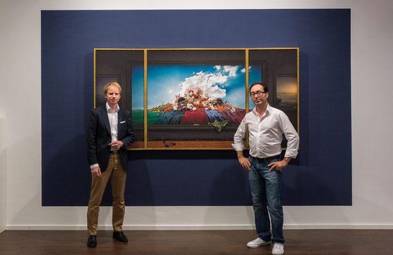 "Triptychon ""ignoramus et ignorabimus"" 240 x 120 cm, v. l. n. r. Dirk Supper, Marc Junghans"