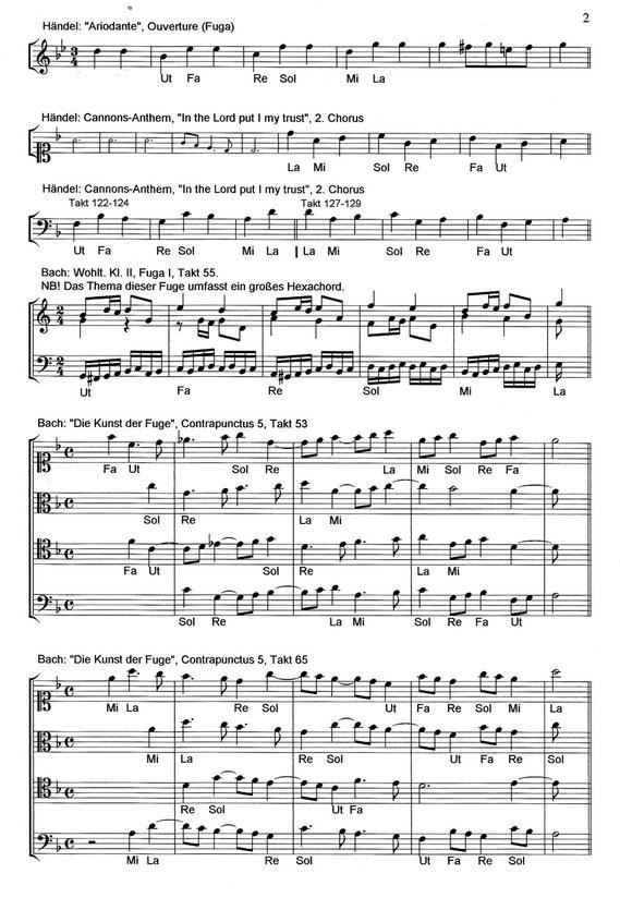 Bach und Händel | Bach and Handel | Hexachord | Hexachordsyetem | hexachord system