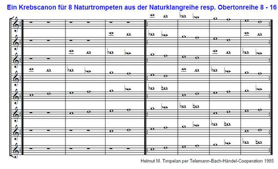 Canon perpetuum | Naturklänge - Obertöne | Langtrompete | Naturtrompete | Naturhorn