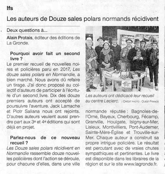 Article Ouest-France du 3/12/2018