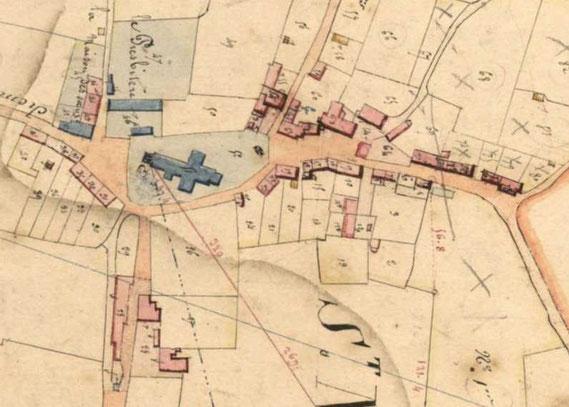 cadastre de 1838 (Archives départementales de la Mayenne)