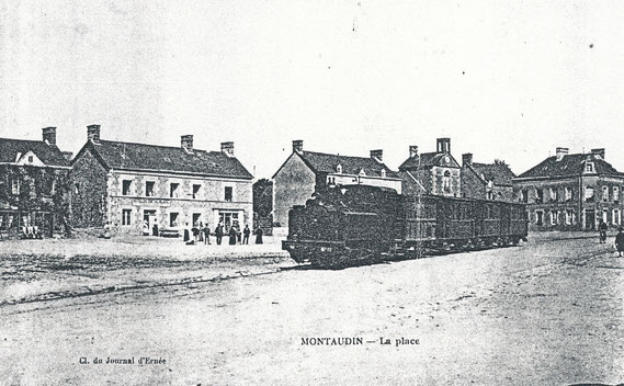 Le train traversant Montaudin