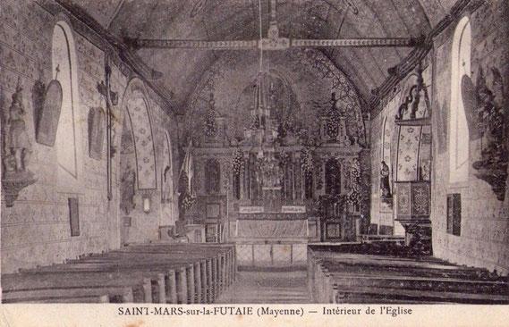 L'intérieur de l'église vers 1900