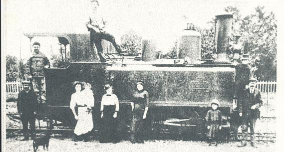 Une locomotive Corpet en gare de Landivy