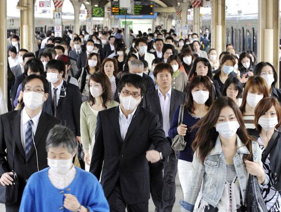 Japon : Le port du masque de protection, visant à se protéger mais aussi à protéger les autres est monnaie courante.