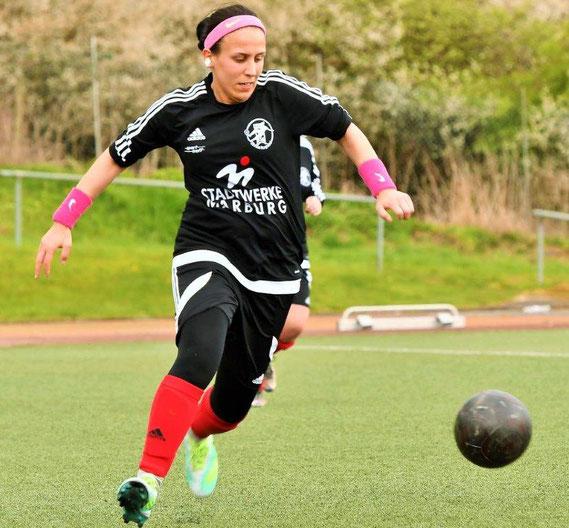 Katica Choukeir (Archivfoto) erzielte eines der drei Tore beim Sieg der FSG Ebsdorfergrund über die SG Kinzenbach
