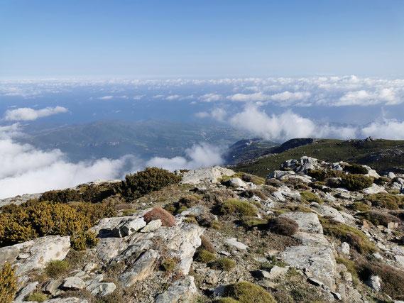 Cima di e Follicie avec vue sur Monte Stellu
