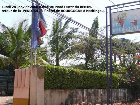Lundi 28 Janvier 2008. Retour de la réserve de la Pendjari. Hôtel BOURGOGNE à Natitingou.  452 KO.