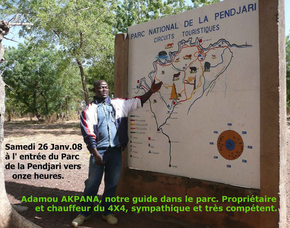 Commentaires utiles de Adamou AKPANA avant de rentrer dans le parc de la Pendjari. 489 KO.