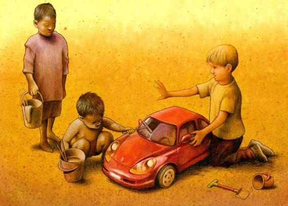 Desigualdad - Dibujo de Pawel Kuczynski