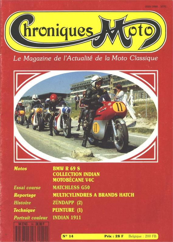 Chronique Moto septembre 1989. Historique de la marque. 2ème partie.