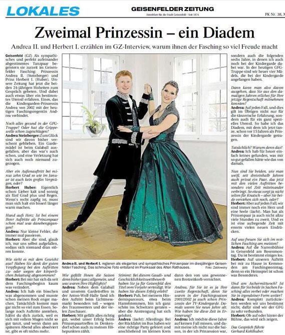 15.02.2017 Geisenfelder Zeitung, Gerhard Kohlhuber
