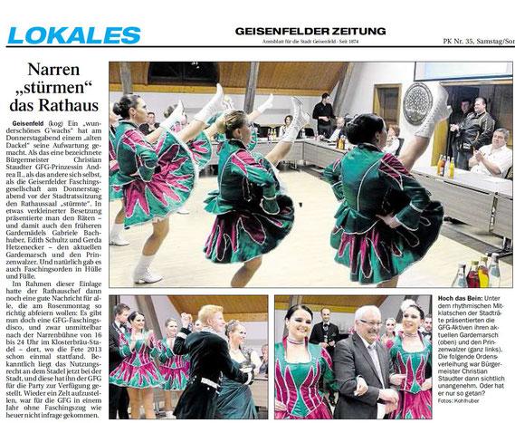 11.02.2017 Geisenfelder Zeitung, Gerhard Kohlhuber