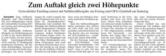 05.01.2017 Geisenfelder Zeitung, Gerhard Kohlhuber