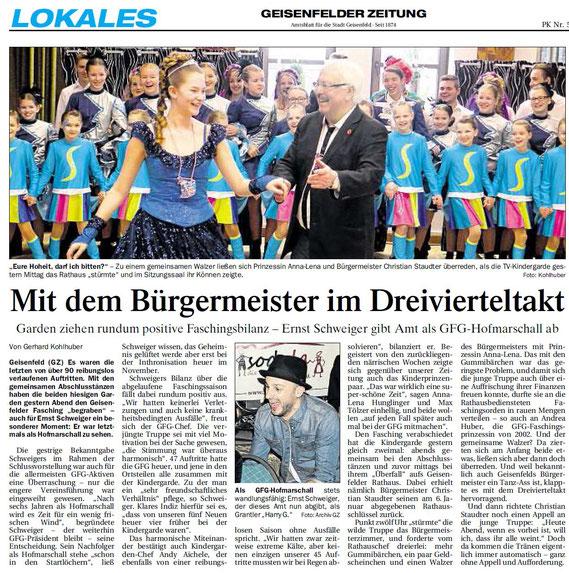 01.03.2017 Geisenfelder Zeitung, Gerhard Kohlhuber