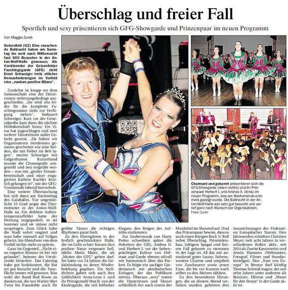 10.01.2017 Geisenfelder Zeitung, Maggie Zurek