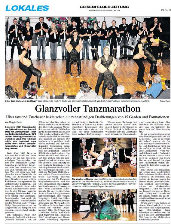 24.01.2017 Geisenfelder Zeitung, Maggie Zurek