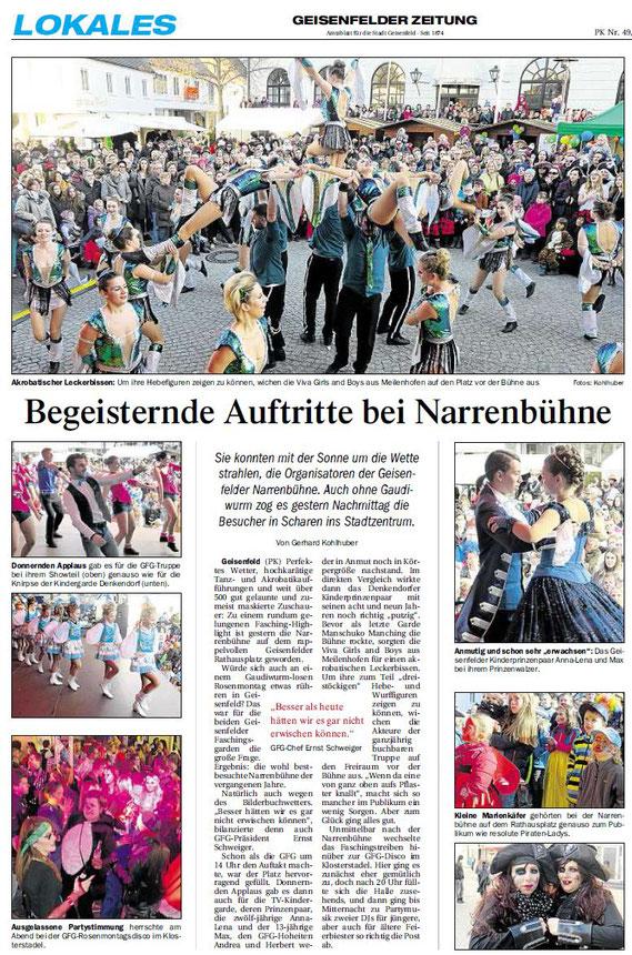 28.02.2017 Geisenfelder Zeitung, Gerhard Kohlhuber