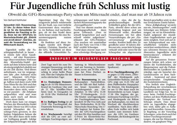21.02.2017 Geisenfelder Zeitung, Gerhard Kohlhuber