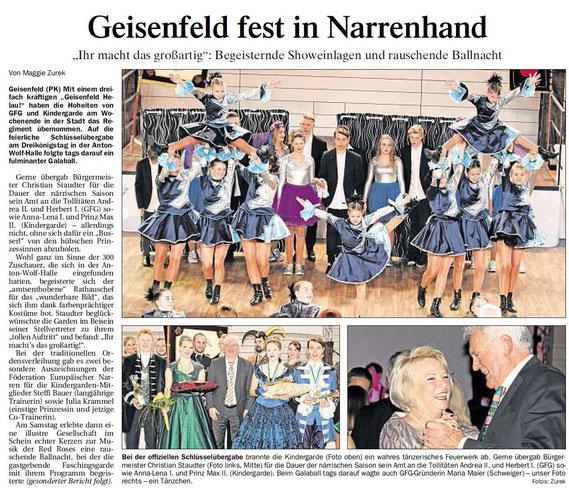 09.01.2017 Geisenfelder Zeitung, Maggie Zurek