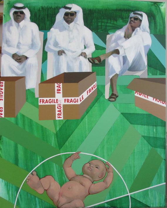 """""""L'adoration des Mages"""", 2014, 146x114 cm, acrylique sur toile, ©"""