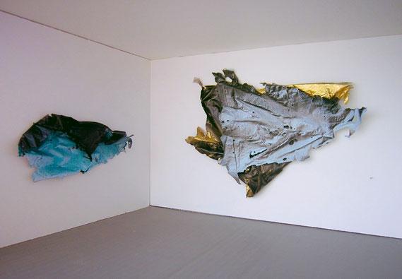 Sébastien Gaudette, papier froissé, White box, maquette art, froissement papier, installation froissement, sculpture papier