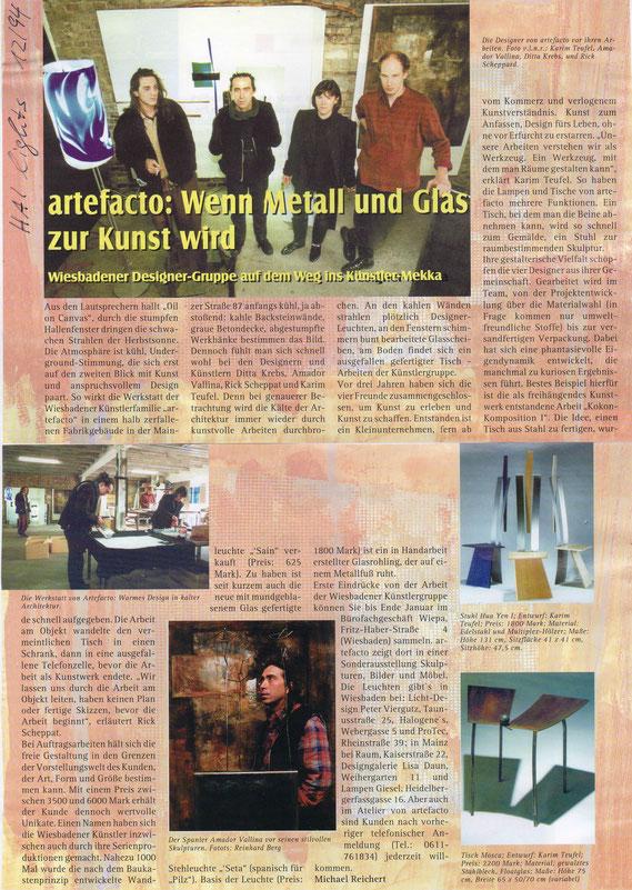[artefacto] Wiesbaden, HAIlights 12/1994 (Fotos: Reinhard Berg, Jens Liebrecht)