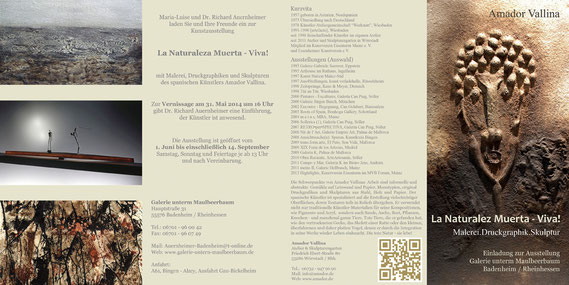 Amador Valline: La Naturaleza Muerta - Viva!