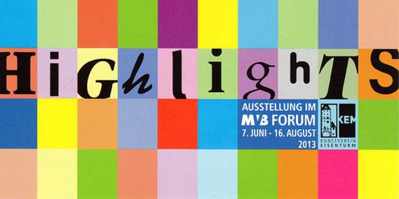Ausstellungsbeteiligung von Amador Vallina bei Highlights, Kunstverein Eisenturm Mainz