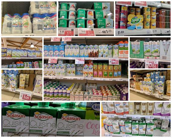 Auch das Angebot veganer Produkte im Supermarkt Eroski wächst und wächst